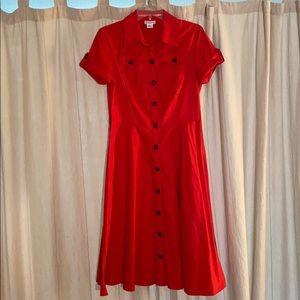 Liz Claiborne Vintage-Style Button Dress *Size 8